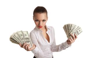 mulheres dinheiro